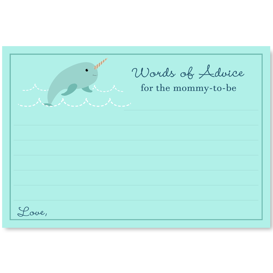 Narwhal Navy Advice Card