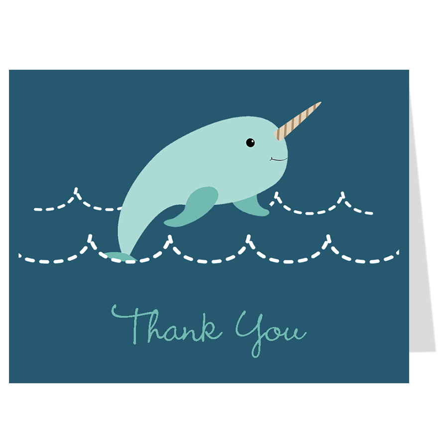 Narwhal Navy Thank You Card