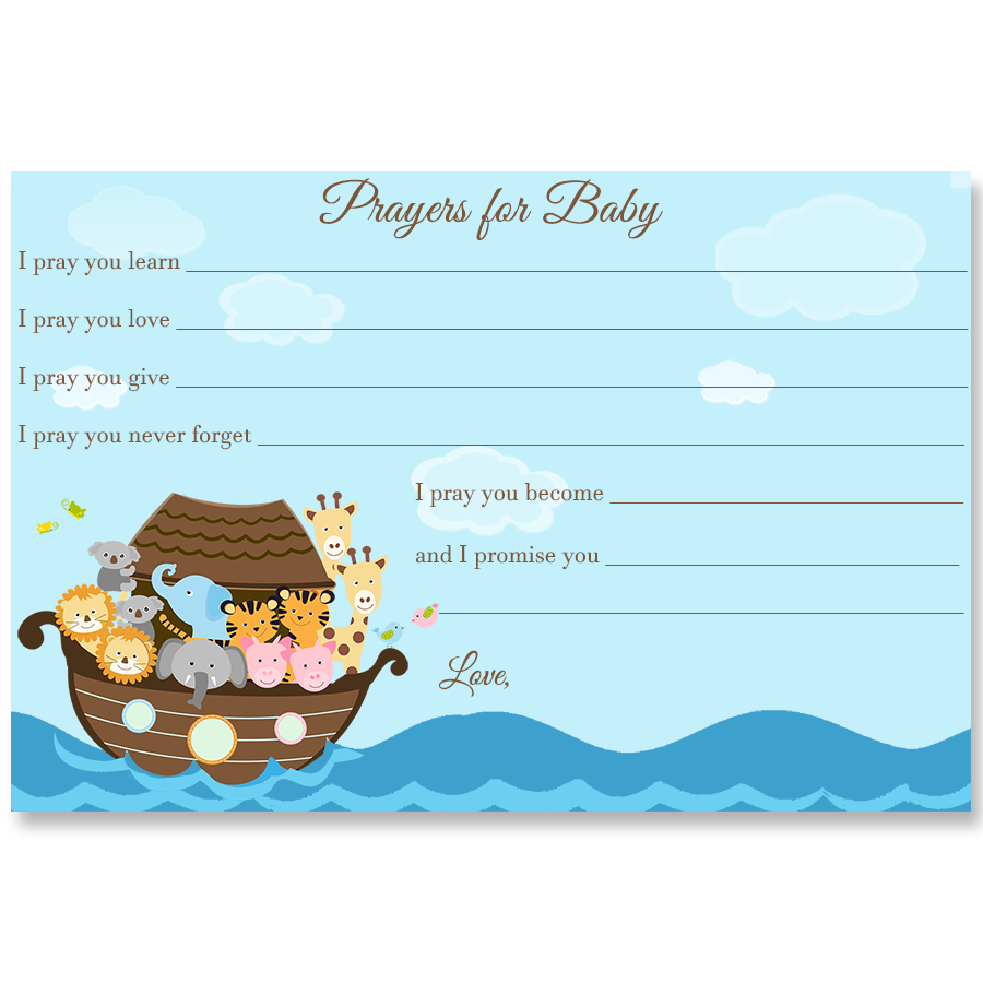 Noah's Ark Prayers for Baby Card