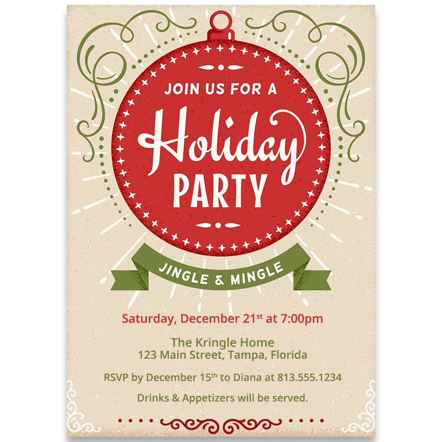 Ornament Holiday Party Invitation