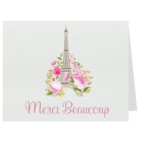 Paris Love Story Thank You Card