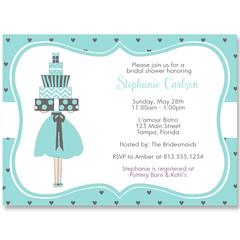 Lots of Love Aqua Bridal Shower Invitation