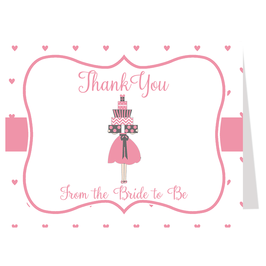 Lots of Love Pink Thank You Card