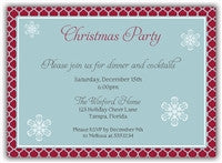 Quatrefoil Christmas Party Invitation