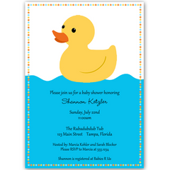 Rubber Duck Baby Shower Invitation