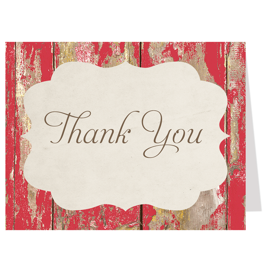 Say I Do BBQ Wood Thank You Card