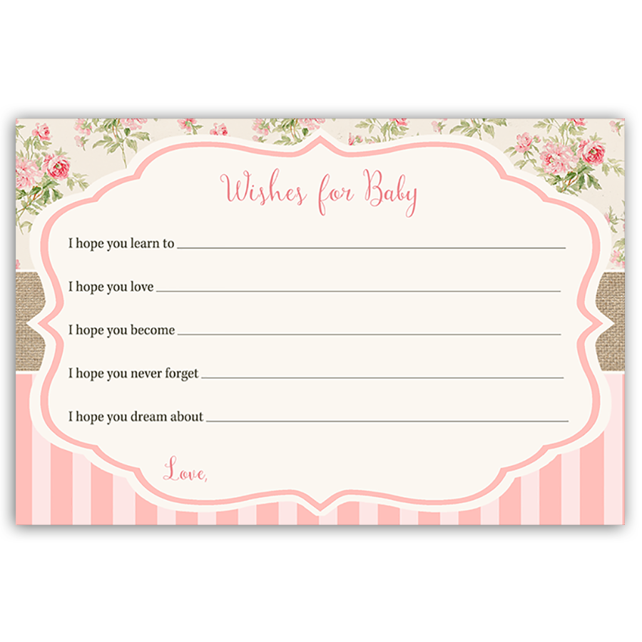 Shabby Chic Baby Shower Invitation Cool FREE Template