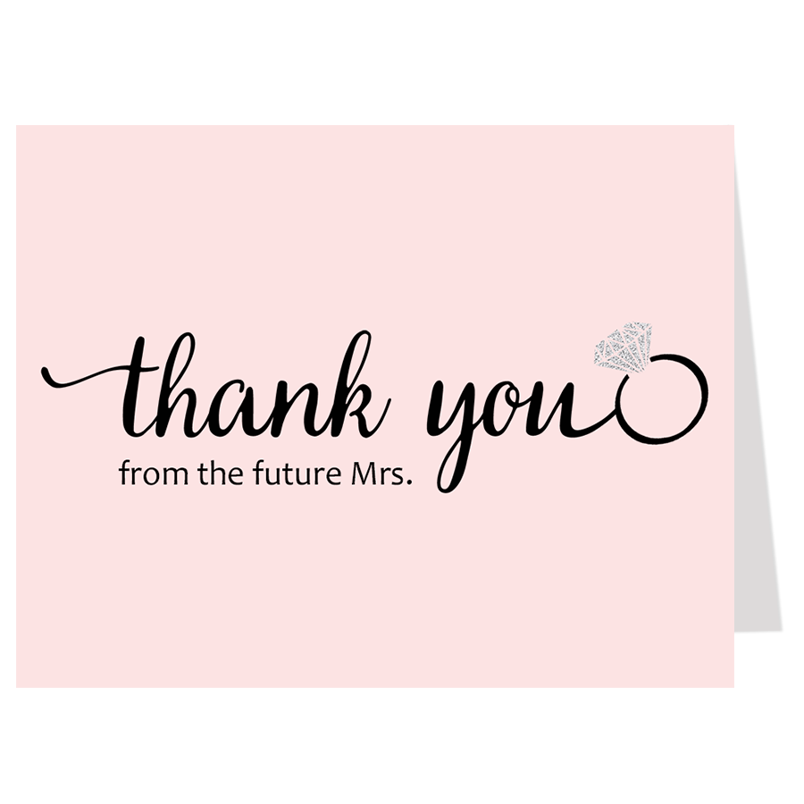 She Said Yes, Pink, Thank You Card