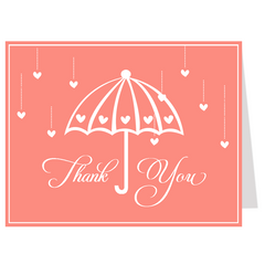 Shower Her with Love Thank You Card