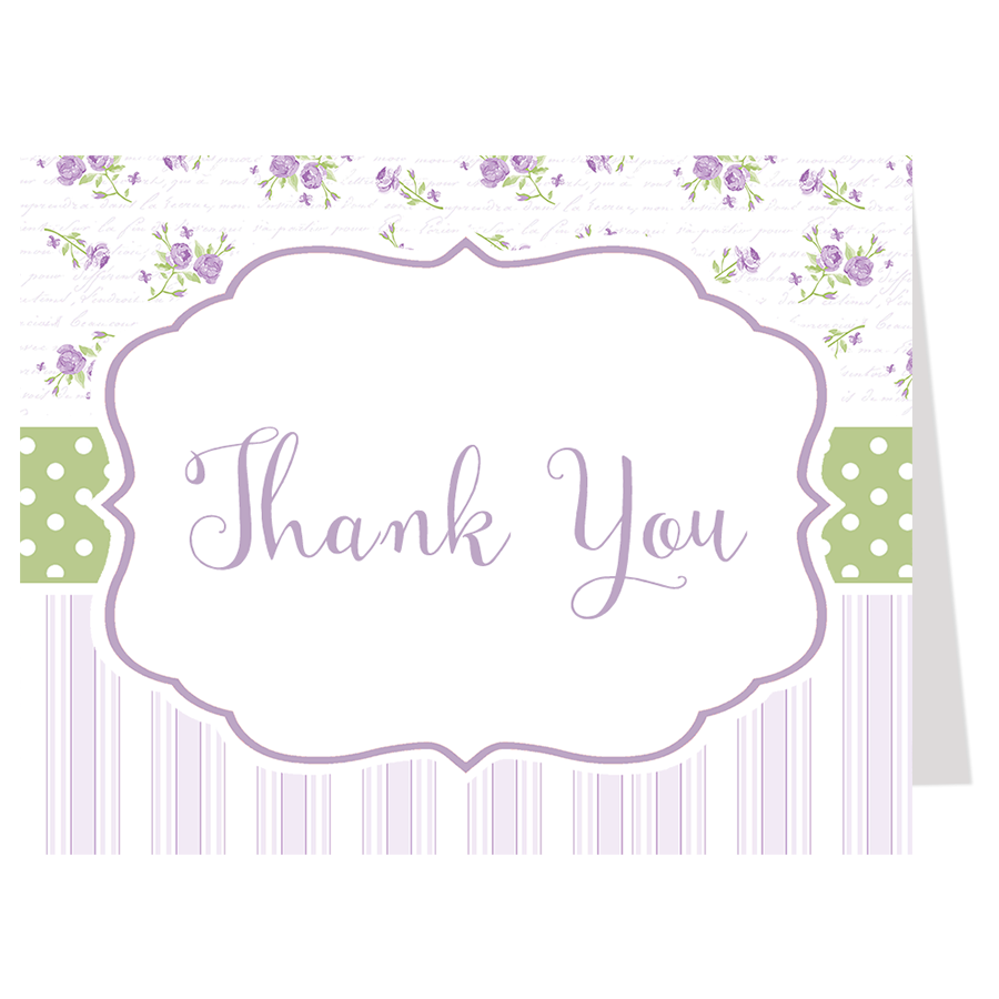 Simply Chic Violet Thank You Card