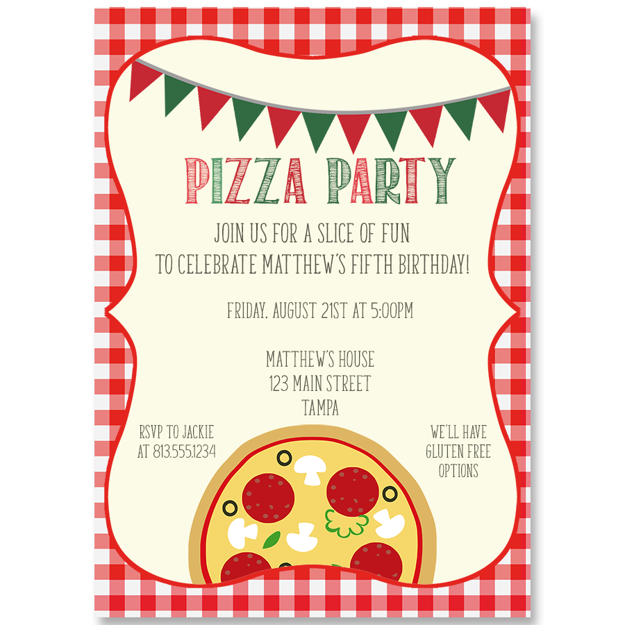 Slice Of Fun Birthday Party Invitation