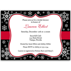 Snowfall Kind of Love Bridal Shower Invitation
