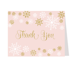 Snowfall Bridal Shower Thank You Card