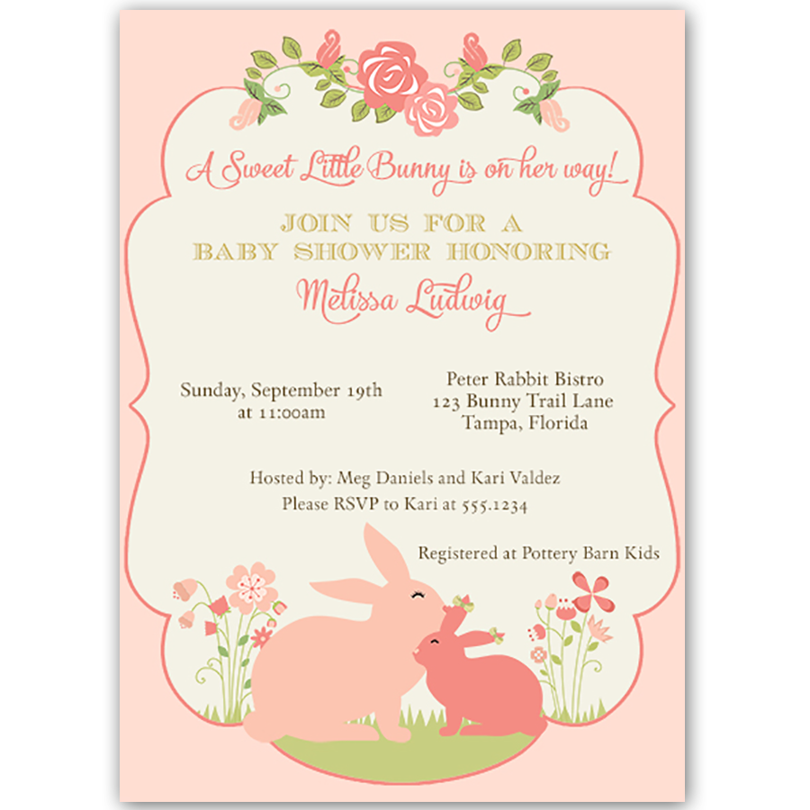 Some Bunny Baby Shower Invitation – The Invite Lady