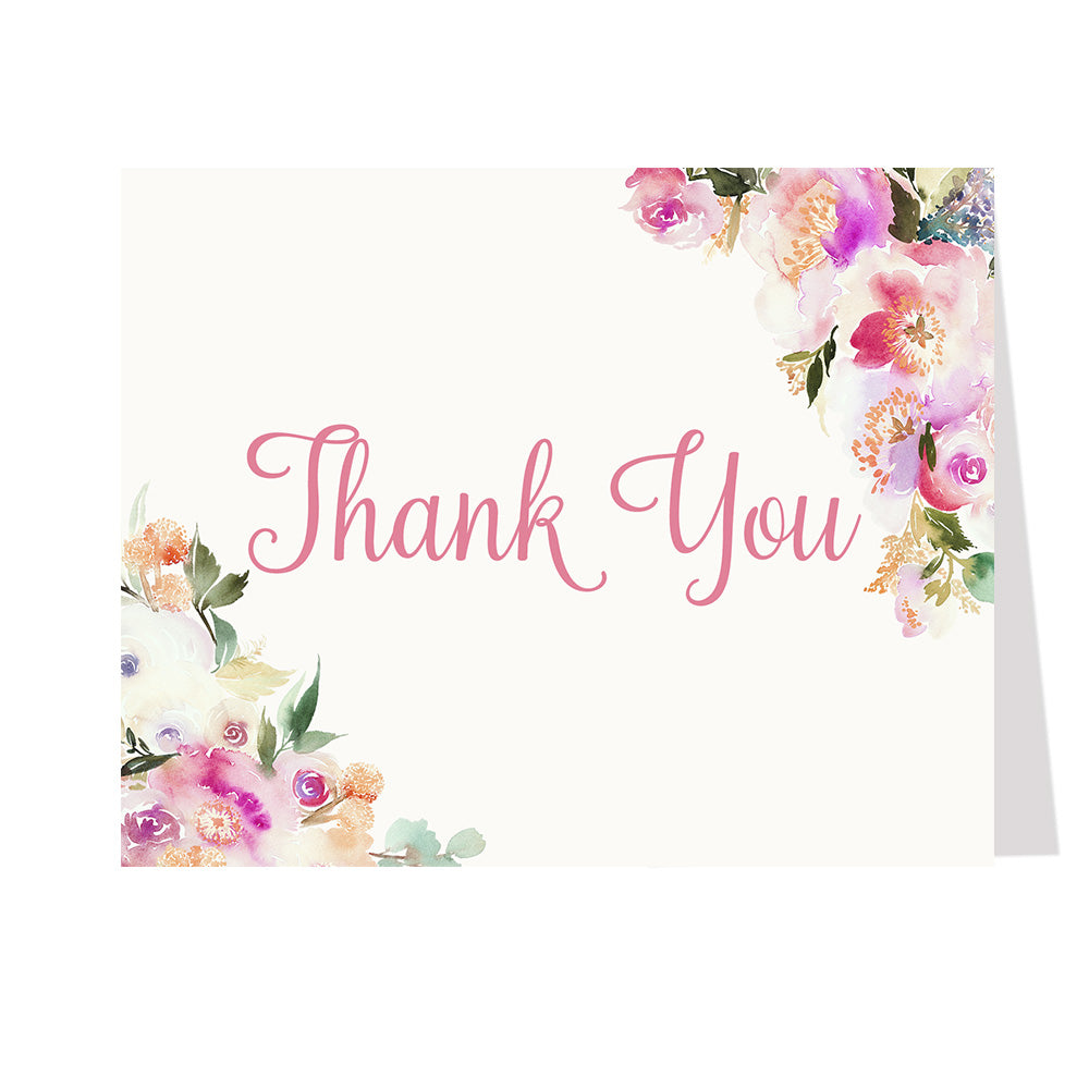 Spring Blooms Thank You Card
