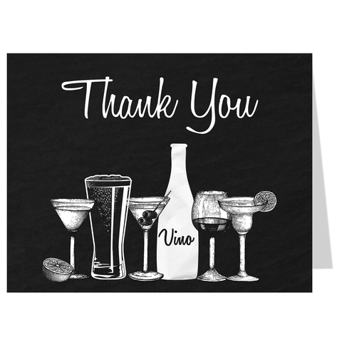 Stock The Bar Bridal Shower Thank You Card