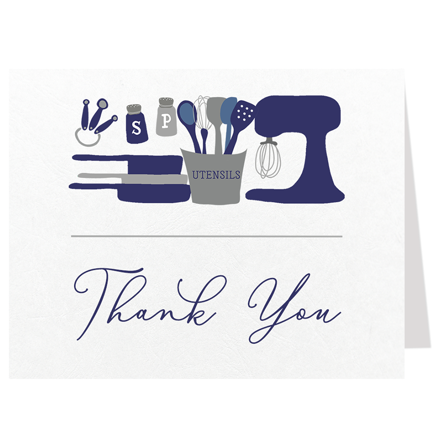 Stock The Kitchen Navy Thank You Card