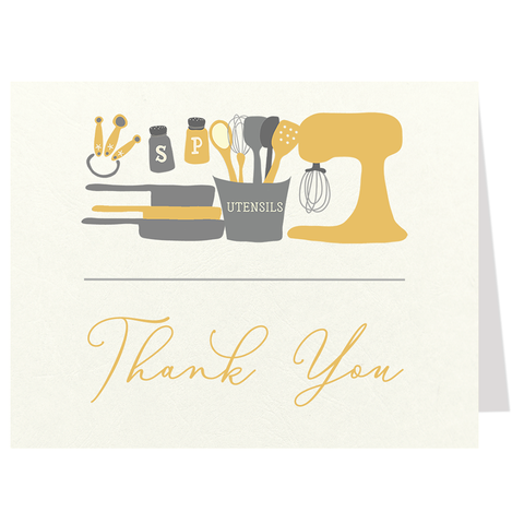 Stock The Kitchen Yellow Thank You Card