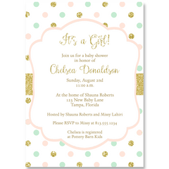 Sweet Dots Baby Shower Invitation