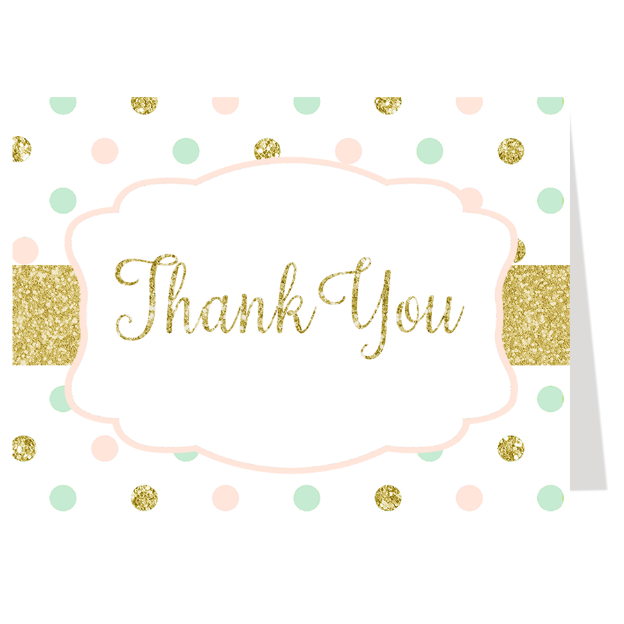 Sweet Dots Thank You Card