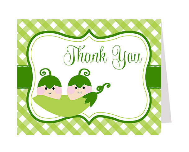 Sweet Pea Twins Thank You Card