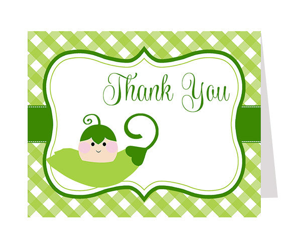 Sweet Pea Thank You Card