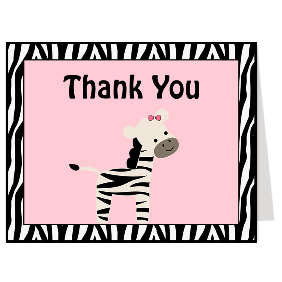 Sweet Stripes Thank You Card