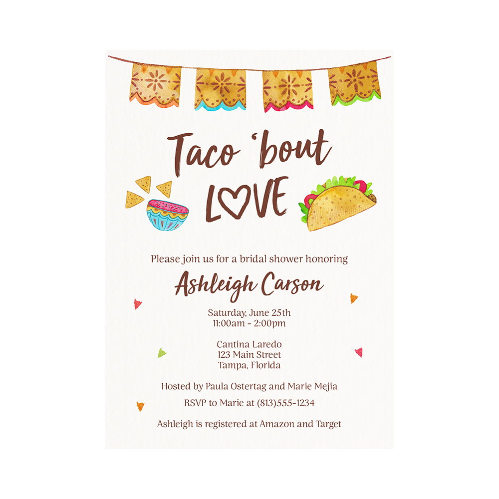 Taco 'Bout Love Fiesta Baby Shower Invitation