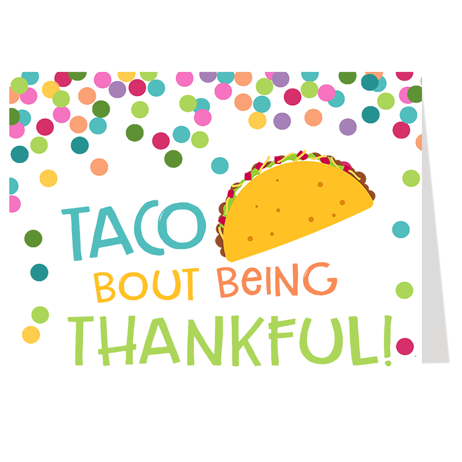 Taco 'Bout A Baby, Thank You Card