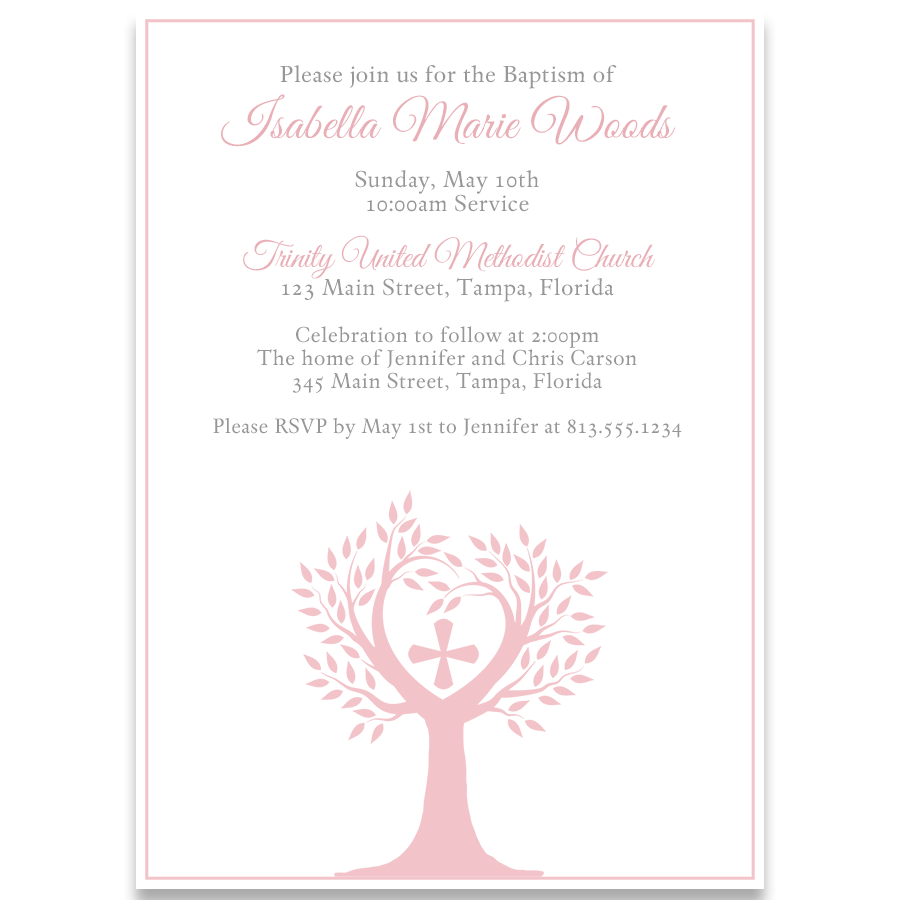 Tree Of Life Religious Invitation