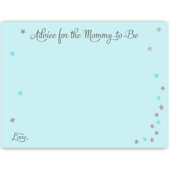 Twinkle Stars Blue Baby Shower Invitation
