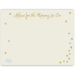 Twinkle Stars Glitter and Gold Boys Baby Shower Invitation