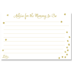 Twinkle Stars Glitter and Gold Baby Shower Invitation