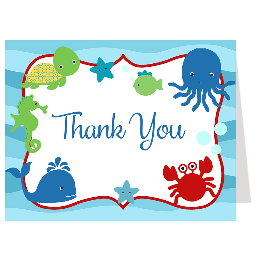 Under the Sea, Thank You Card
