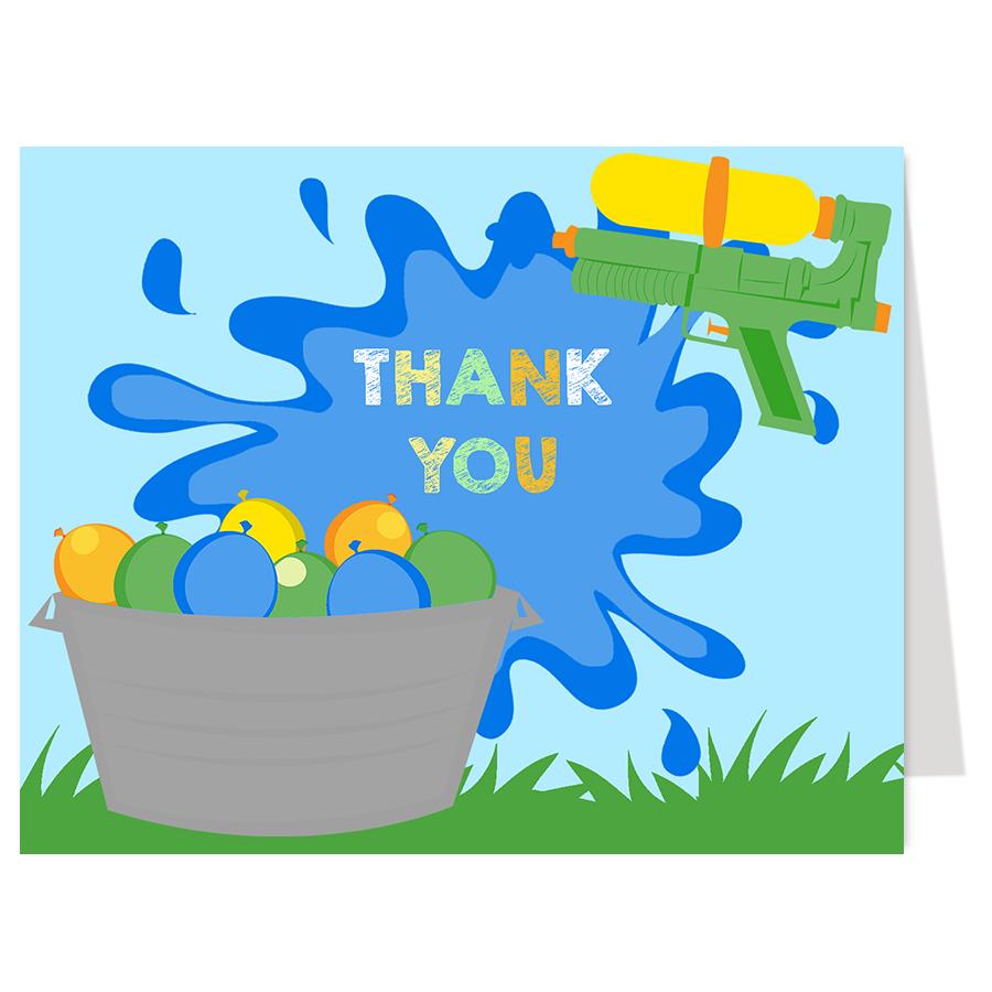 Water Bash Thank You Card
