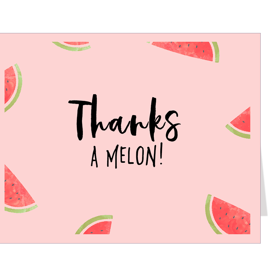 Watermelon Baby Shower Thank You Card