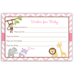 Wild With Excitement Pink Baby Shower Invitation