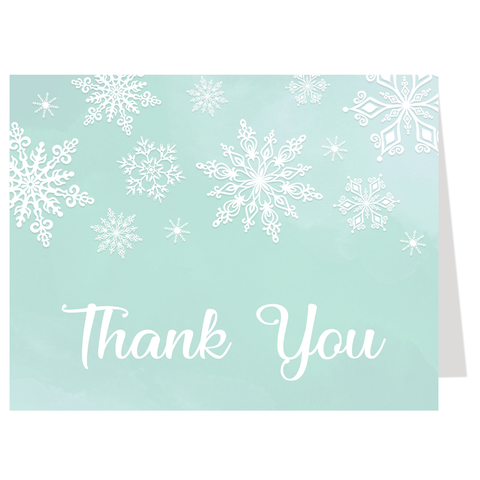 Winter Wonderland Mint Thank You Card