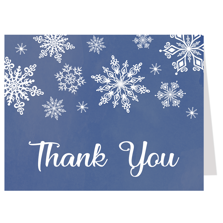 Winter Wonderland Navy Thank You Card