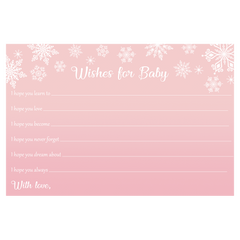 Winter Wonderland Pink Baby Shower Invitation