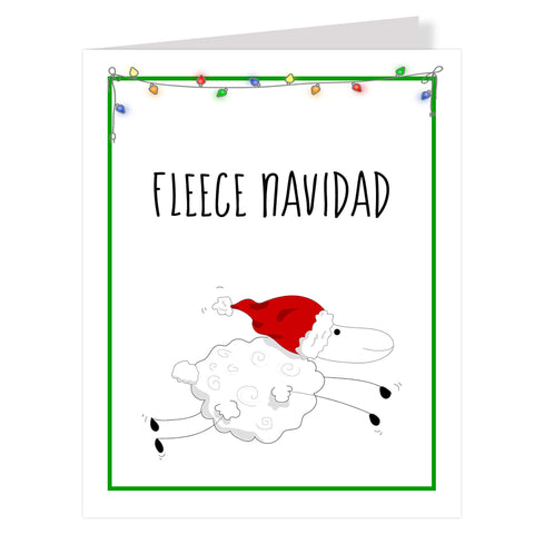 Fleece Navidad Holiday Greeting Cards, 12 Pack