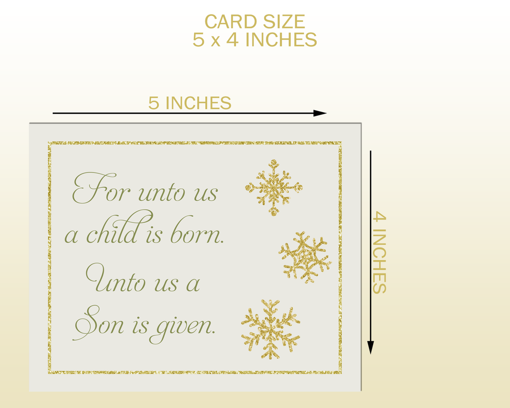 Religious Christmas Cards For Children.Religious Christmas Cards For Unto Us A Child Is Born A Son Is Given Biblical Scripture Bible Verse Christian Merry Christmas Baby Jesus Reason For