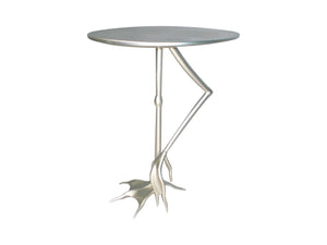 Silver Flamingo Side Table
