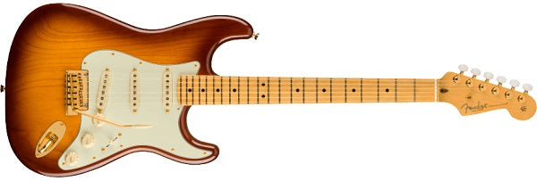 MODEL: 0177512833 75TH ANNIVERSARY COMMEMORATIVE STRATOCASTER®, MAPLE FINGERBOARD, 2-COLOR BOURBON BURST