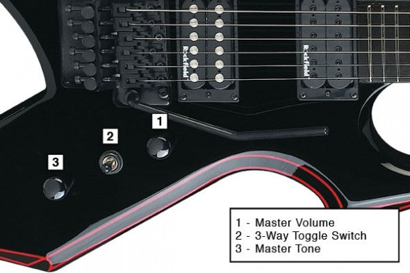 Bc Rich Guitars Ntrols Layout Diagrams The Music Zoo