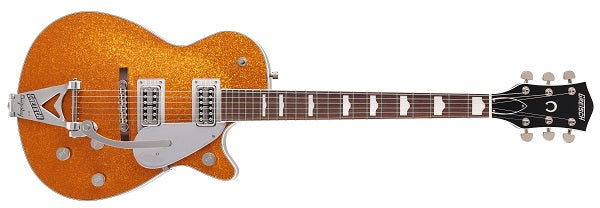 Gretsch G6129T-89VS Vintage Select '89 Sparkle Jet with Bigsby Rosewood Fingerboard Gold Sparkle