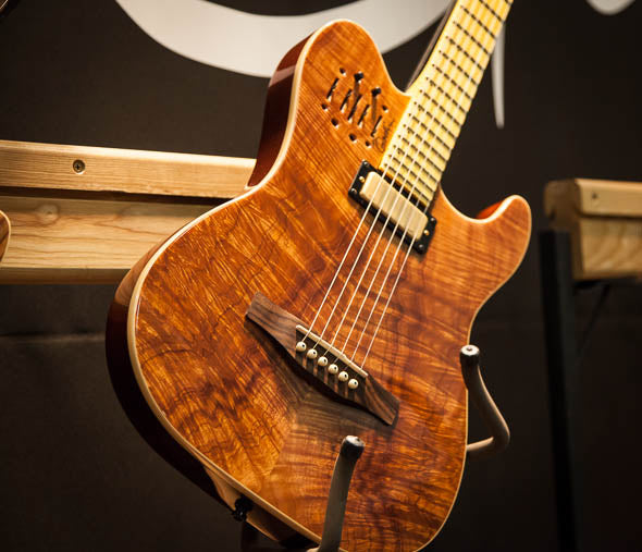 40th Anniversary Limited Godin Figured Koa Acousticaster