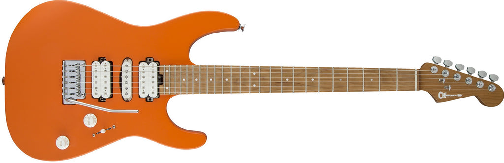 Pro-Mod DK24 HSH 2PT CM, Caramelized Maple Fingerboard, Satin Orange Crush