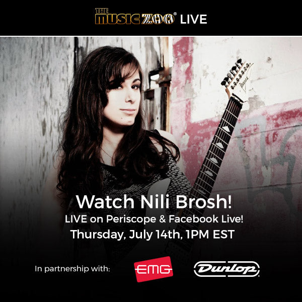 Live Stream: Nili Brosh at The Music Zoo on July 14th!