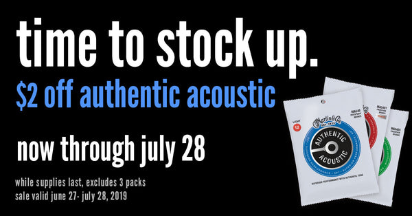 Martin Authentic Acoustic Strings On Sale!
